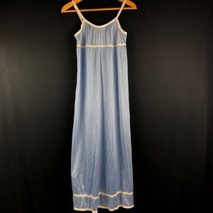 Vassarette Vintage Blue Empire Nylon Nightgown